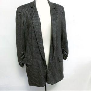 Zara pinstripe open blazer size medium